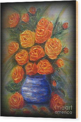 Roses For You Wood Print by Elena  Constantinescu