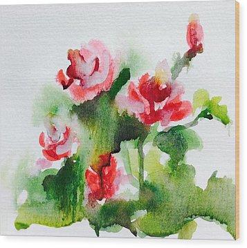 Roses Garden 3 Wood Print