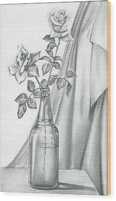 Roses Wood Print by Gayatri Ketharaman