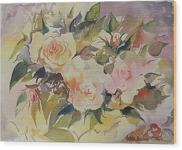 Roses Wood Print by Geeta Biswas