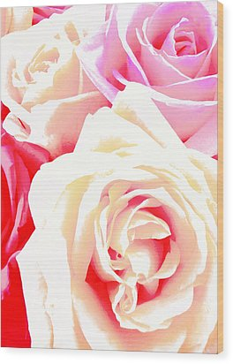 Roses Wood Print by Kara  Stewart
