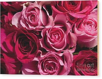 Wood Print featuring the photograph Roses by Matt Malloy