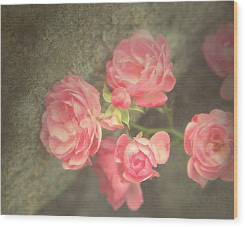 Wood Print featuring the photograph Roses On Granite by Brooke T Ryan