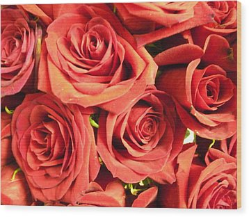 Wood Print featuring the photograph Roses On Your Wall by Joseph Baril