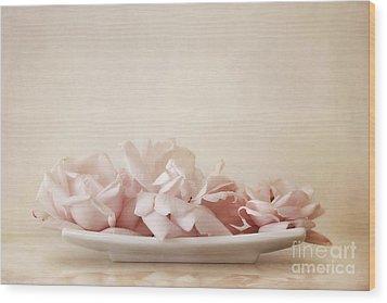Roses Wood Print by Priska Wettstein