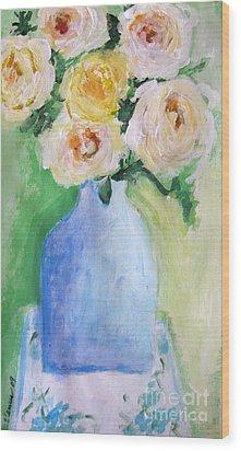 Roses Wood Print by Venus
