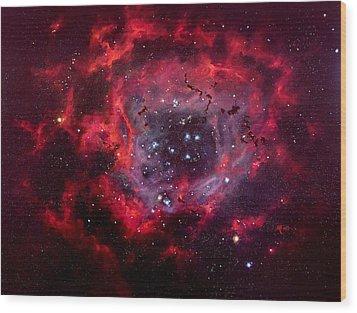 Rosetta Nebula Wood Print by Marie Green