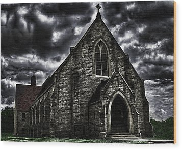 Roseville Ohio Church Wood Print