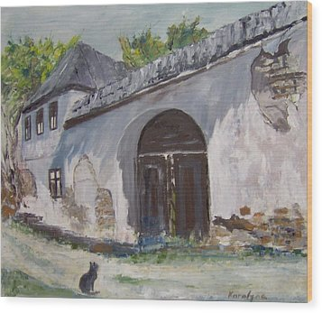 Rosia Montana Old House Wood Print by Maria Karalyos
