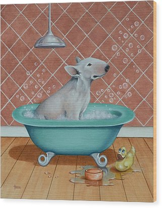 Rosie In The Bliss Bubbles Wood Print by Cynthia House