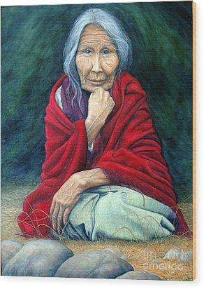 Rosie Remembered Wood Print by Joey Nash