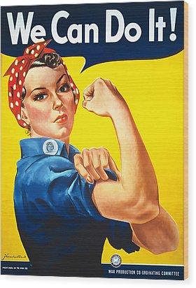 Rosie The Riveter Wood Print