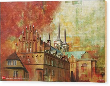 Roskilde Cathedral Wood Print by Catf