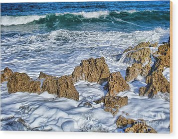 Wood Print featuring the photograph Ross Witham Beach Stuart Florida by Olga Hamilton