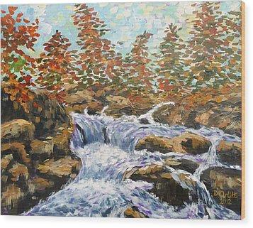Rosseau Falls Wood Print