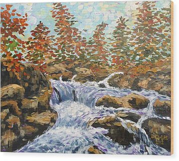 Rosseau Falls Wood Print by Diane Arlitt