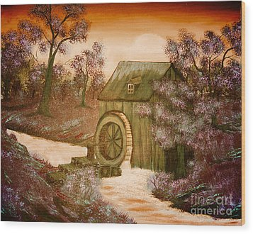 Ross's Watermill Wood Print by Barbara Griffin