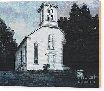 Rossville Church And Cemetery Wood Print