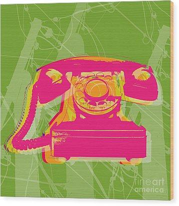 Rotary Phone Wood Print