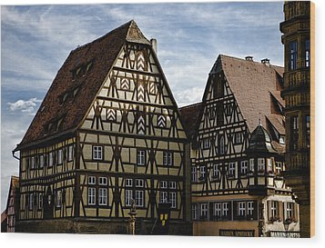 Rothenburg Architecture Wood Print by Joanna Madloch