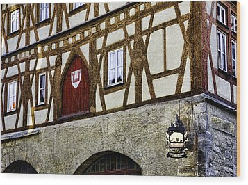 Rothenburg Geometry Wood Print by Joanna Madloch