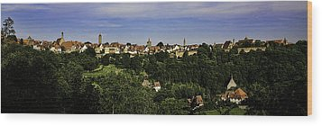 Rothenburg Panorama Wood Print by Joanna Madloch