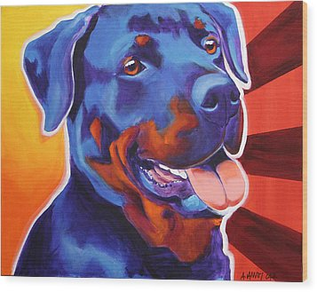 Rottweiler - Baloo Wood Print by Alicia VanNoy Call