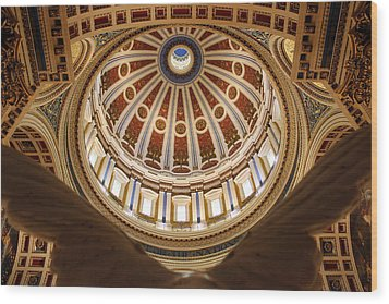 Rotunda Dome On Wings Wood Print