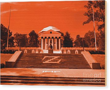 Rotunda Uva Orange Wood Print