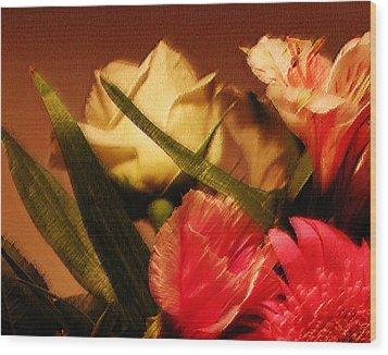 Rough Pastel Flowers - Award-winning Photograph Wood Print by Gerlinde Keating - Galleria GK Keating Associates Inc