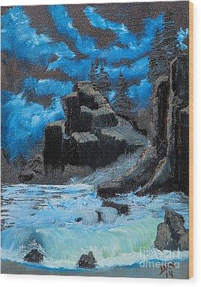 Rough Seas Wood Print by Dave Atkins