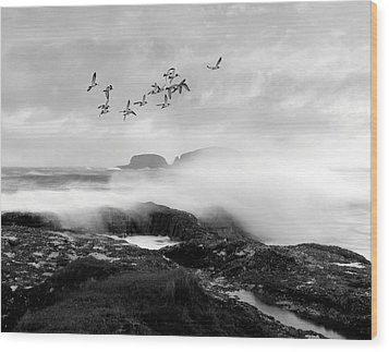 Wood Print featuring the photograph Rough Seas by Roy  McPeak