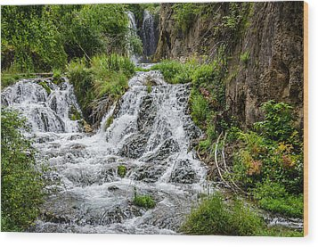 Roughlock Falls South Dakota Wood Print