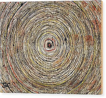 Round And Around Wood Print by Carla Sa Fernandes
