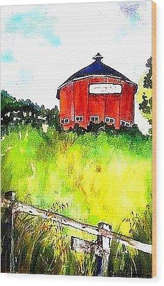 Round Barn Santa Rosa Wood Print