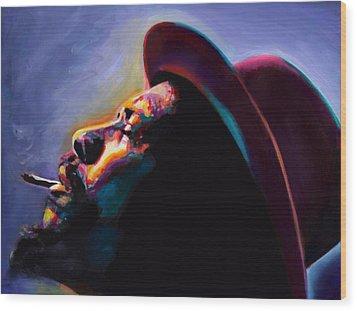 Round Midnight Thelonious Monk Wood Print by Vel Verrept
