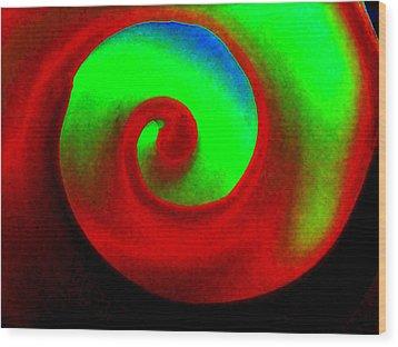Round N Round Wood Print by Rebecca Flaig