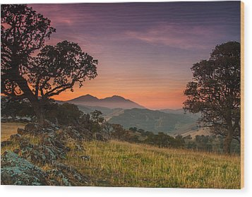 Round Valley After Sunset Wood Print