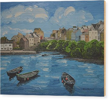 Roundstone Harbour Connemara Ireland Wood Print