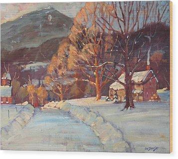 Route 116 Savoy Wood Print by Len Stomski