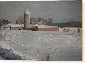Route 45 Barn Wood Print by Joan Carroll