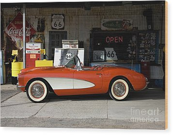 Wood Print featuring the photograph Route 66 by Allen Beilschmidt