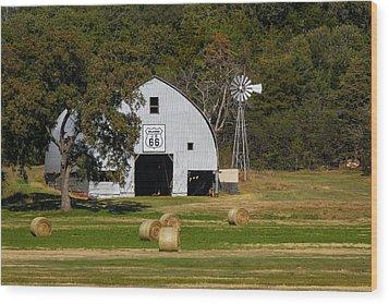 Route 66 Barn Wood Print
