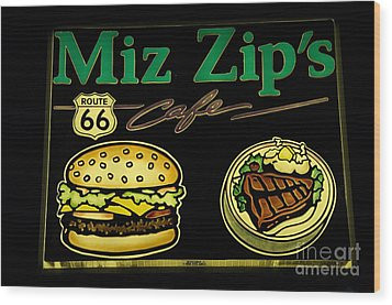 Route 66 Miz Zips Wood Print by Bob Christopher