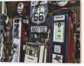 Wood Print featuring the painting Route 66 by Muhie Kanawati