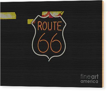 Route 66 Revisited Wood Print by Kelly Awad