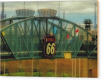 Route 66 Polaroid - Large Format - No Transfer Border Wood Print by Tony Grider