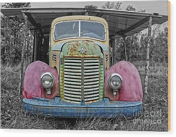 Wood Print featuring the photograph Route 9 Truck by Sebastian Mathews Szewczyk