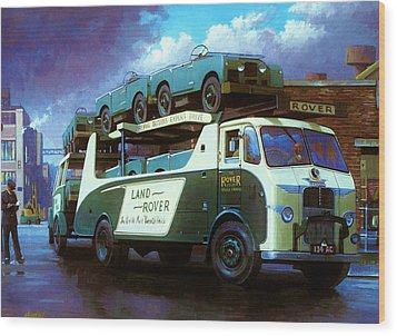 Rovers For Export. Wood Print by Mike  Jeffries