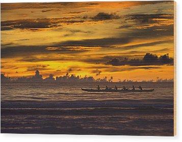 Row Wood Print by Karen Walzer